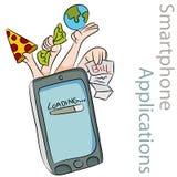 Applicazioni astute del telefono Immagini Stock Libere da Diritti