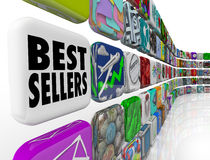 Applicazioni della parete della lista di posto di App dei best-seller Fotografia Stock Libera da Diritti