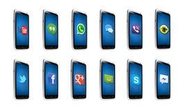 Applicazioni di androide Immagini Stock