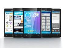 Applicazioni mobili. Fotografia Stock