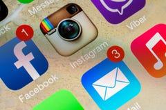 Applicazioni sociali di media Fotografie Stock Libere da Diritti