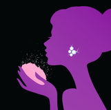 applicera den härliga pulverkvinnan Royaltyfria Bilder