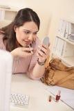 applicera executive barn för läppstiftkontorskvinna Royaltyfria Bilder