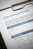 Applicera för nytt jobb vid ansökningshandlingen royaltyfria foton