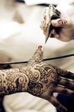applicera henna Royaltyfri Foto