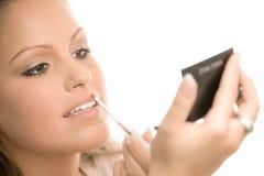 applicera makeup Arkivbilder