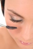 applicera makeupkvinnan Royaltyfri Bild