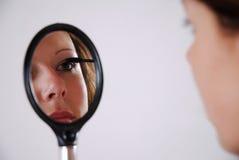 Applicera mascara fotografering för bildbyråer