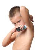 applicera stiligt manbarn för deodorant royaltyfria foton