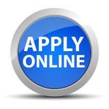 Applichi il bottone rotondo blu online royalty illustrazione gratis