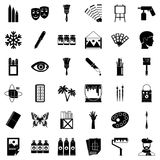 Applied art icons set, simple style. Applied art icons set. Simple set of 36 applied art vector icons for web isolated on white background Stock Photography