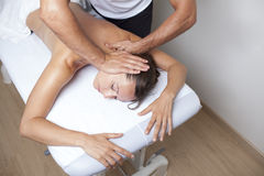 Applied chiropractic care Royalty Free Stock Image
