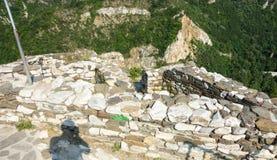 Applied masonry walls Asenova Fortress Royalty Free Stock Image