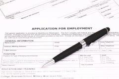 Applikation för anställning Arkivfoton