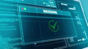 Applikation missad varning för varningssystemsäkerhet på nolla för meddelande för varning för framsteg för datorScreenDeleting ma stock video
