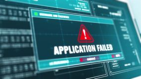 Applikationen missade varning för varningssystemsäkerhet på datorskärmen lager videofilmer