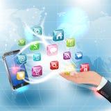 Applikationer för mobila plattformar Royaltyfri Bild
