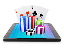 Applikationer för TabletPC:N Arkivbild