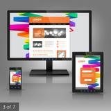 Applikationmalldesign Fotografering för Bildbyråer