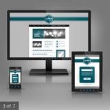 Applikationmalldesign Arkivfoto
