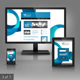 Applikationmalldesign Arkivbild