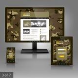 Applikationmalldesign Royaltyfria Bilder
