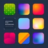 Applikationsymbolsbakgrunder Uppsättning 01 Arkivfoton