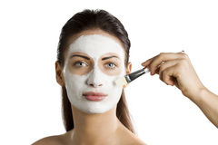 Appling beauty mask Royalty Free Stock Photos