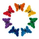 Applique από ένα ύφασμα πεταλούδων Απομονώστε στην άσπρη ανασκόπηση Στοκ φωτογραφίες με δικαίωμα ελεύθερης χρήσης
