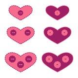 applique καρδιές που τίθενται Στοκ Εικόνες