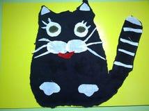 Applique που απεικονίζει μια γάτα Στοκ εικόνες με δικαίωμα ελεύθερης χρήσης