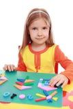 applique το κορίτσι Χριστουγένν&om Στοκ εικόνα με δικαίωμα ελεύθερης χρήσης