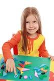 девушка рождества applique делает Стоковая Фотография