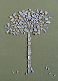 Applique of apple tree. Of seashells, beads and fabric Stock Images