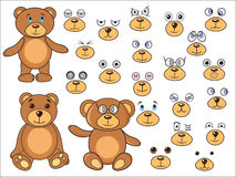Applique, body parts of a bear in the vector EPS Stock Images