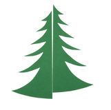 Applique Christmas tree#03 Stock Photo