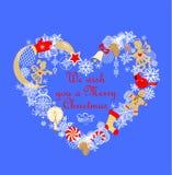 Applique criançola engraçado com a grinalda do Natal do corte do papel do ouro com vela dourada, pão-de-espécie, anjos pequenos,  ilustração royalty free