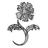 Applique de la flor del cordón Imagen de archivo libre de regalías