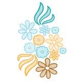 Applique de la flor del cordón Fotos de archivo libres de regalías
