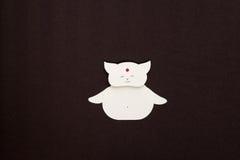 Applique de papel del gato Fotografía de archivo