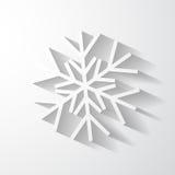 Applique di carta del fiocco di neve Fotografie Stock
