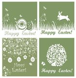 Applique easter cards Royalty Free Stock Photo