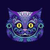 Applique with the head of the Cheshire cat from the fairy tale Royalty Free Stock Photography