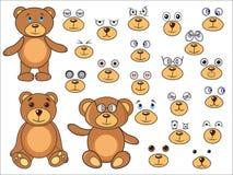Applique, partes do corpo de um urso no vetor EPS ilustração royalty free