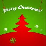 Applique rosso e verde di vettore dell'albero di Natale Fotografia Stock Libera da Diritti