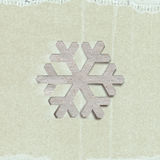 Applique snowflake Royalty Free Stock Photo
