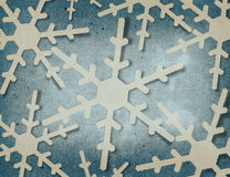 Applique snowflakes Stock Image