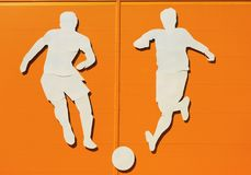 Applique on a sports theme Stock Image