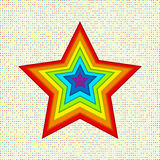 Applique stars of paper in rainbow colors Royalty Free Stock Image