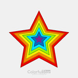 Applique stars of paper in rainbow colors Royalty Free Stock Photography